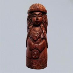 Frigga Figure dans en bois