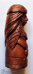 Frigga figure made of wood