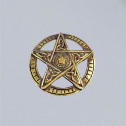 Pentagram, carved, small