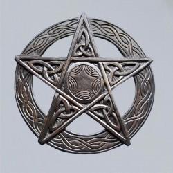 Pentagramma, intagliato, grande
