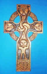 St, Patrick Cross, carved