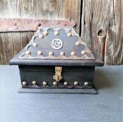 Pentagramm Kästchen im antik Look USA Salem Box