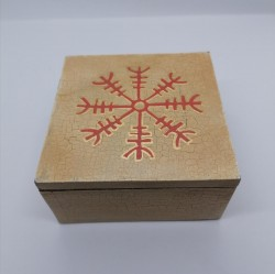 Box Wikinger with symbol for protection (Aegishjalmur)