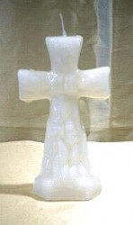 Figure Candles for Magickal Purposes - Altar Candle white Cross