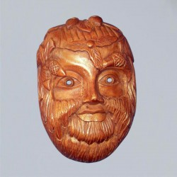 Wall relief mask Green Man