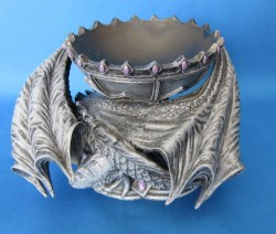 Crystal Ball Holder Dragon with pentagram