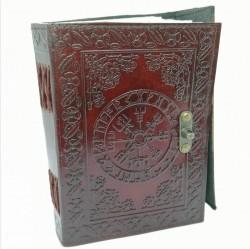 Asatru Notizbuch / Tagebuch Wikinger Kompass mit Messingbeschlag