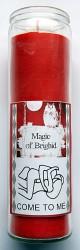 Magic of Brighid Bougie en verre Come to me