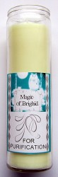 Magic of Brighid Bougie en verre For Purification