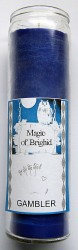 Magic of Brighid Glass Candle Gambler