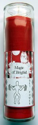 Magic of Brighid Glass Candle Get Power