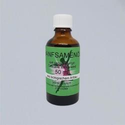 Huile de graines de chanvre bio (Cannabis sativa) 50 ml