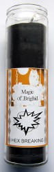 Magic of Brighid Bougie en verre Hex Breaking