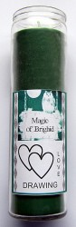Magic of Brighid Glass Candle Love Drawing